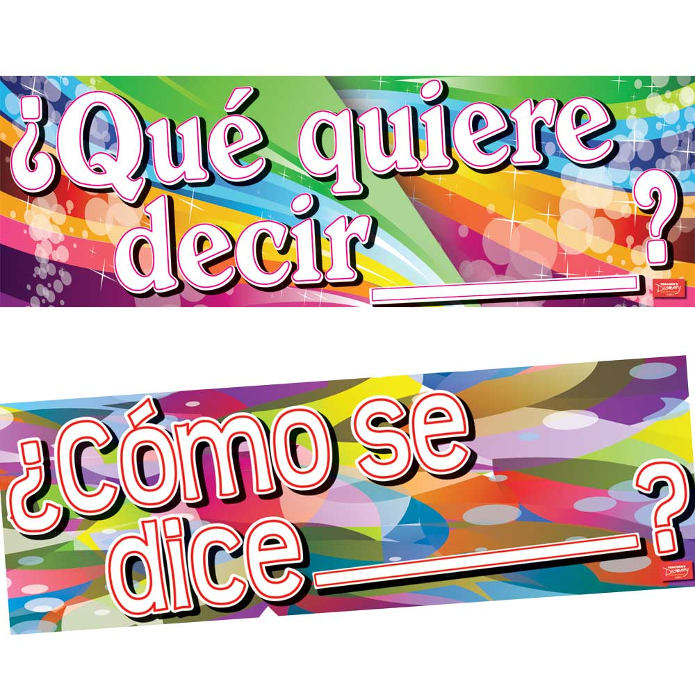Classroom Questions Spanish Banner Set