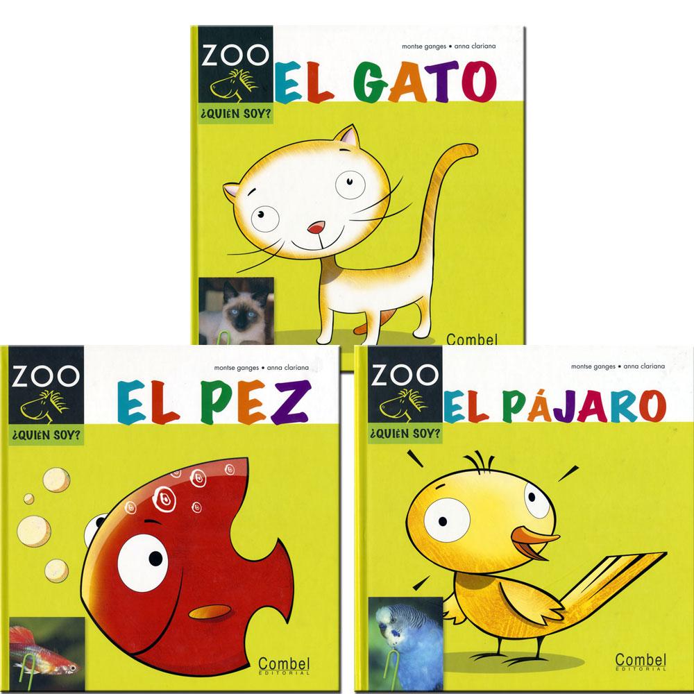 ¿Quién Soy? Spanish Zoo Books Set of 3