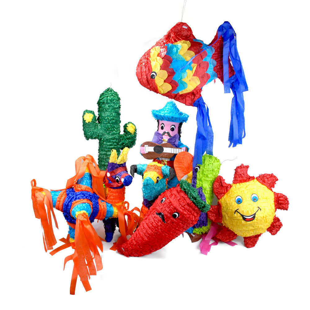 Full-Size Piñatas (non-filled) - Set of 9