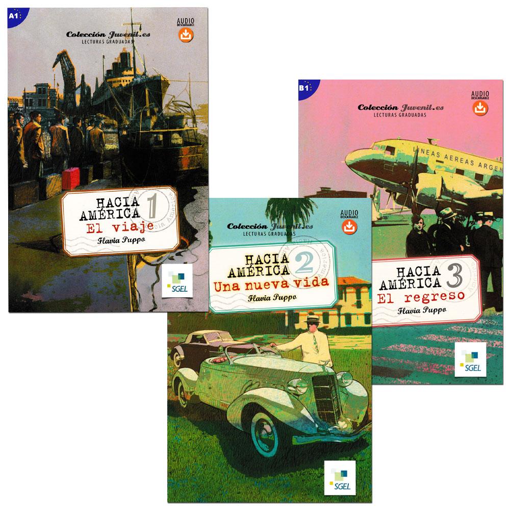 Hacia América Spanish Level 1–3+ Readers - Set of 3