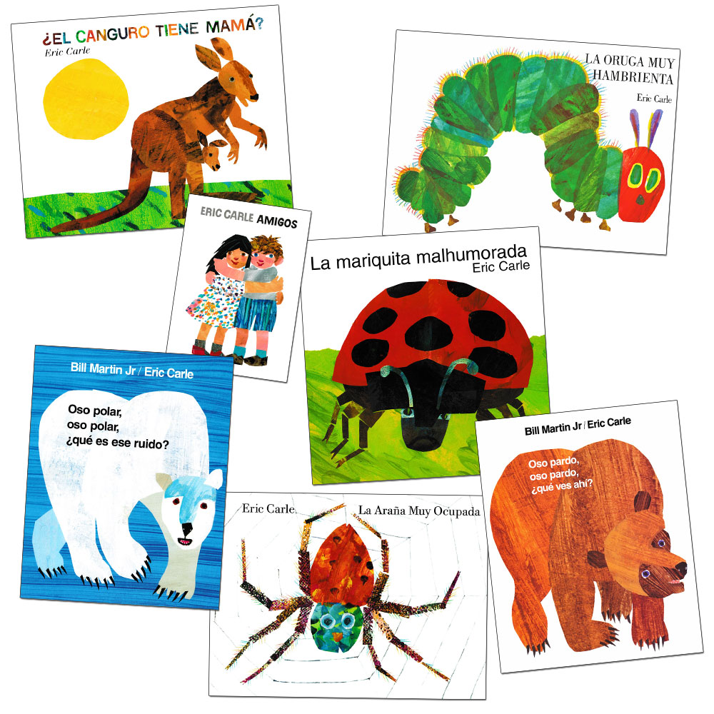 Eric Carle Spanish Books - Set of 7