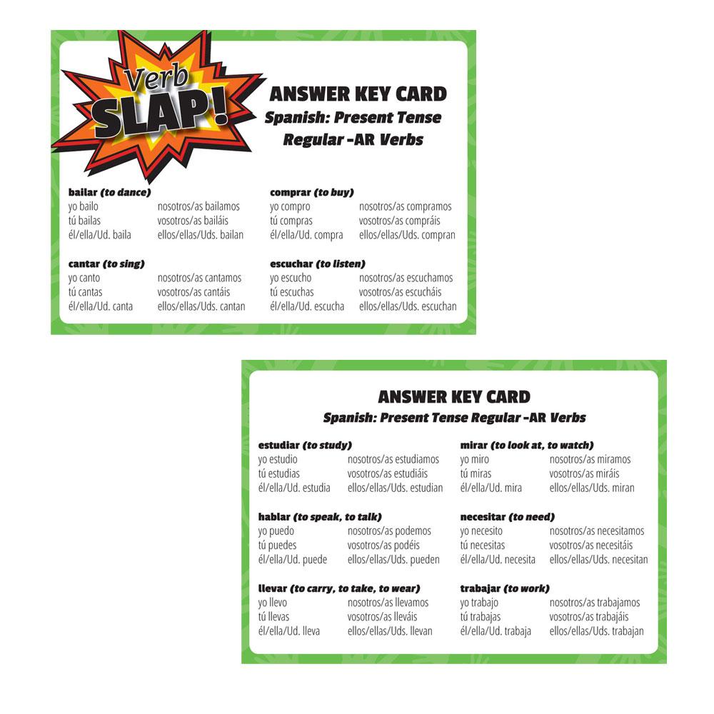 Verb Slap Spanish Games Games Teachers Discovery