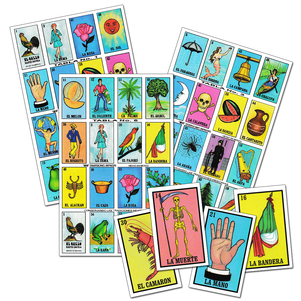 picture relating to Printable Loteria Mexicana referred to as Lotería mexicana pequeño Spanish Match