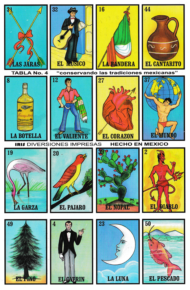 It is a graphic of Resource Printable Loteria Mexicana