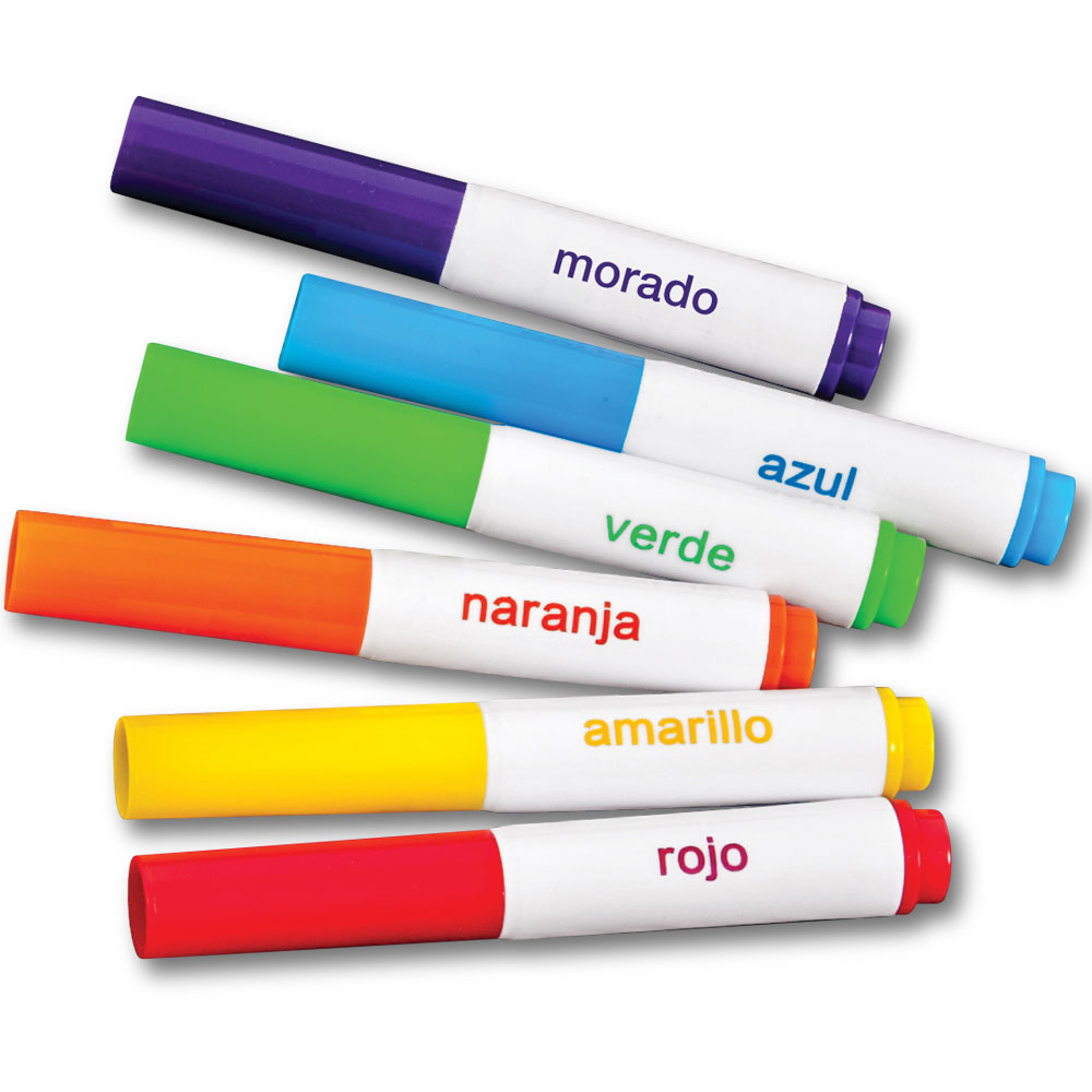 Marcadores Broad-Line Student Markers - Pack of Six Assorted Colors