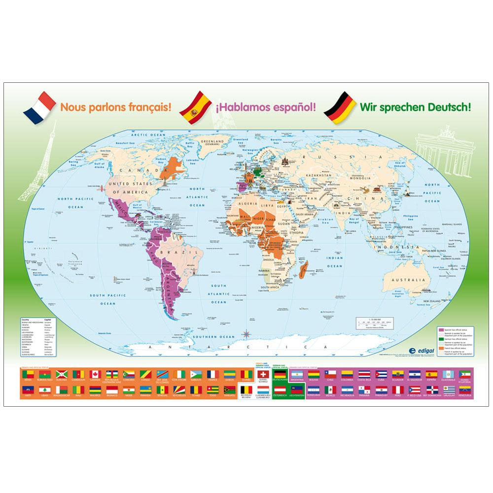 Language Distribution Map