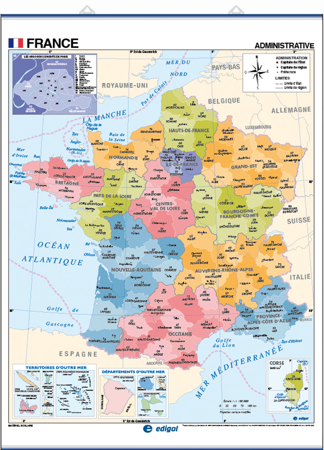 Map Of France In French French Teacher S Discovery