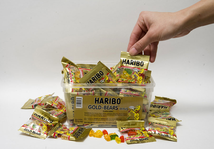 Gummi Bears Tub of 54 Mini-Bags - German