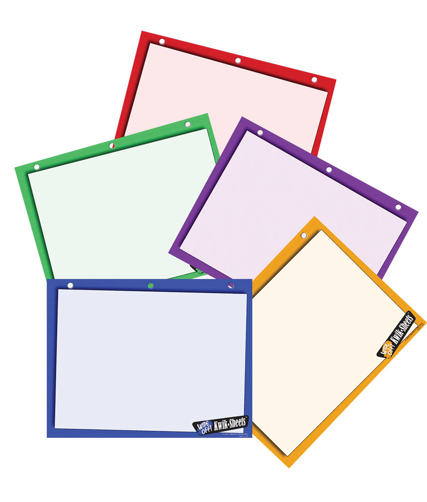 Five-Color Kwik Sheets