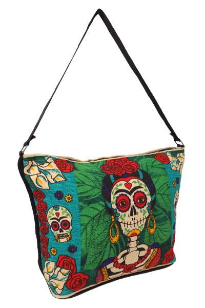 Frida Stencil on Canvas Bag