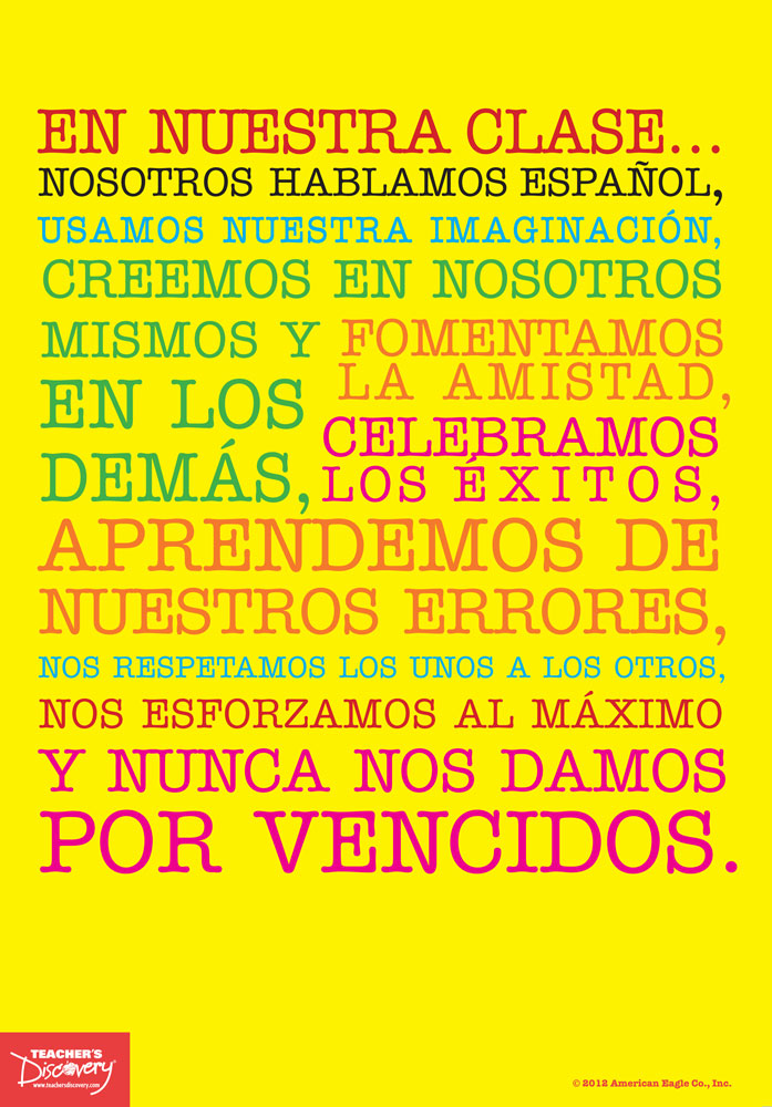 Spanish Classroom Mantra Mini-Poster