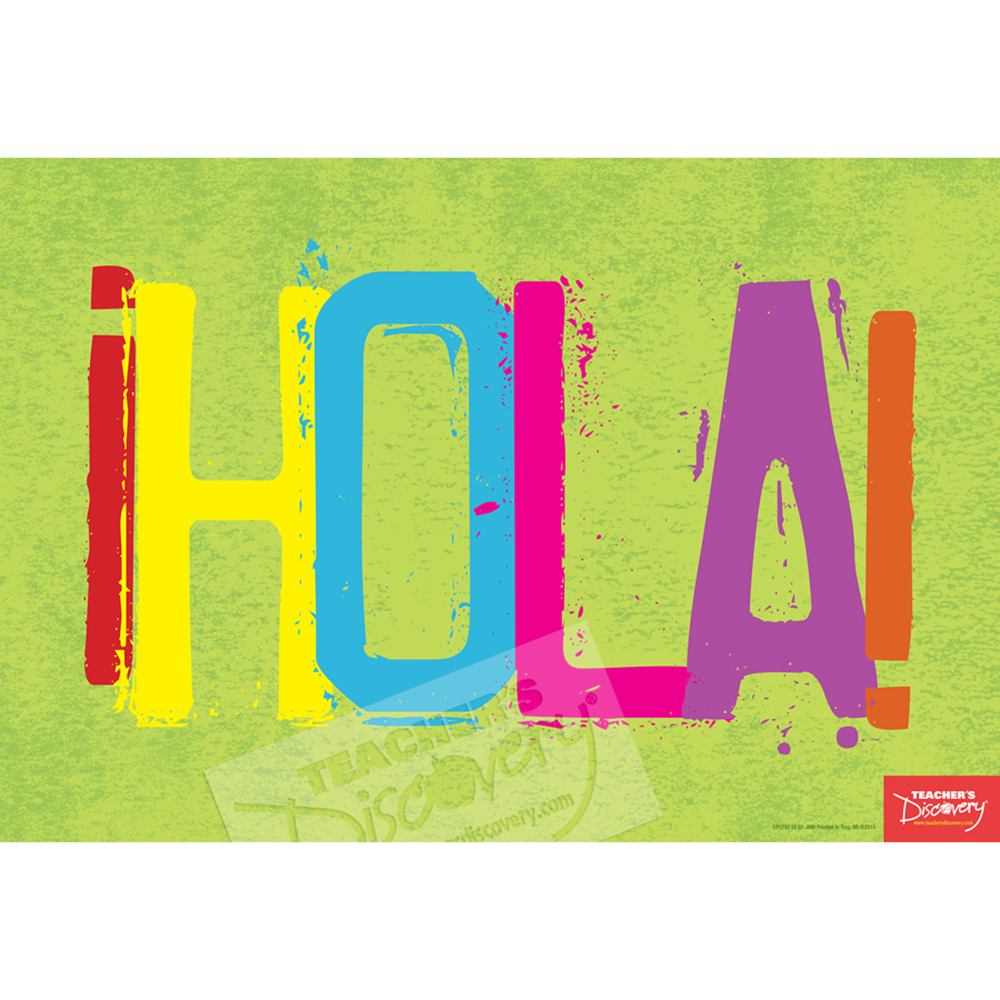 Hello spanish mini poster spanish teacher 39 s discovery for Farcical in spanish