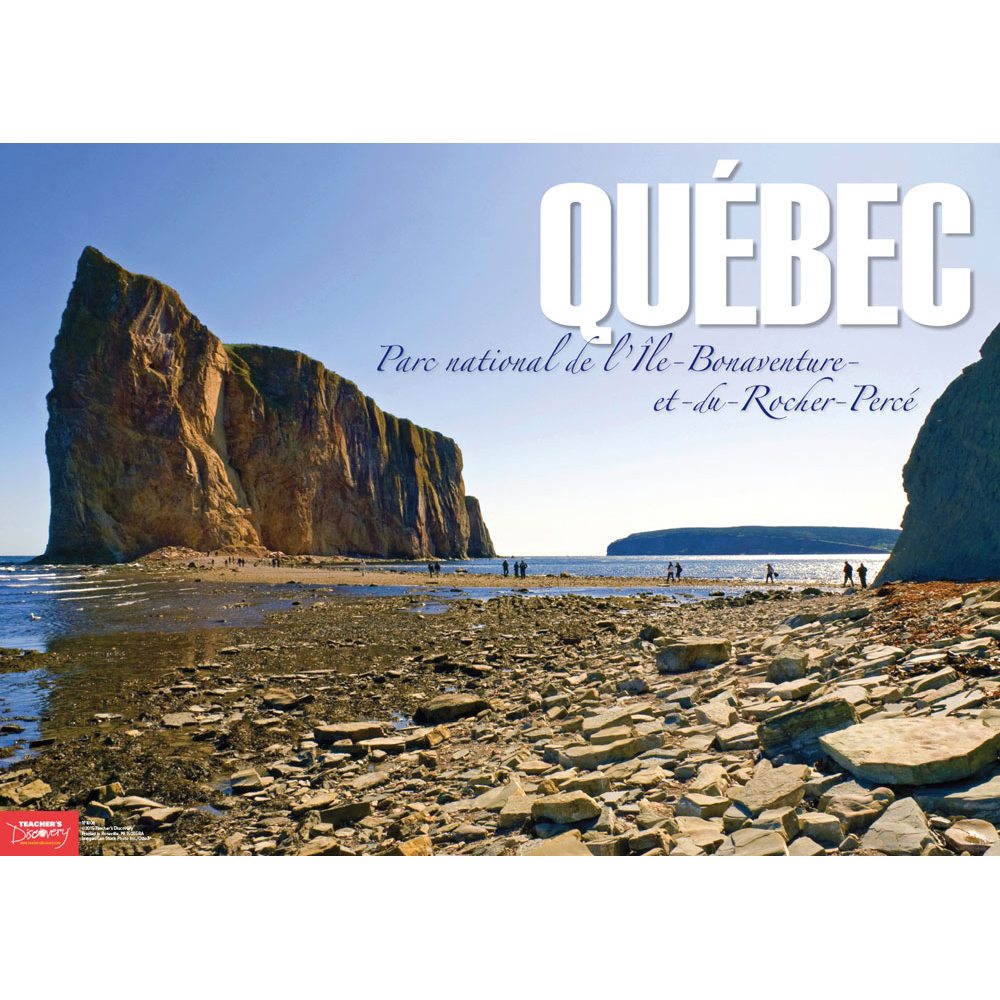 Percé Rock Québec French Travel Poster