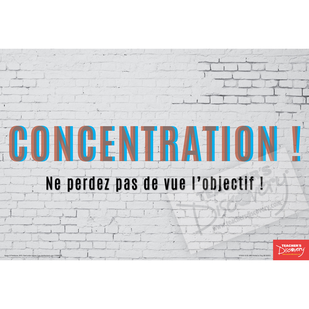 Concentrate French Mini-Poster