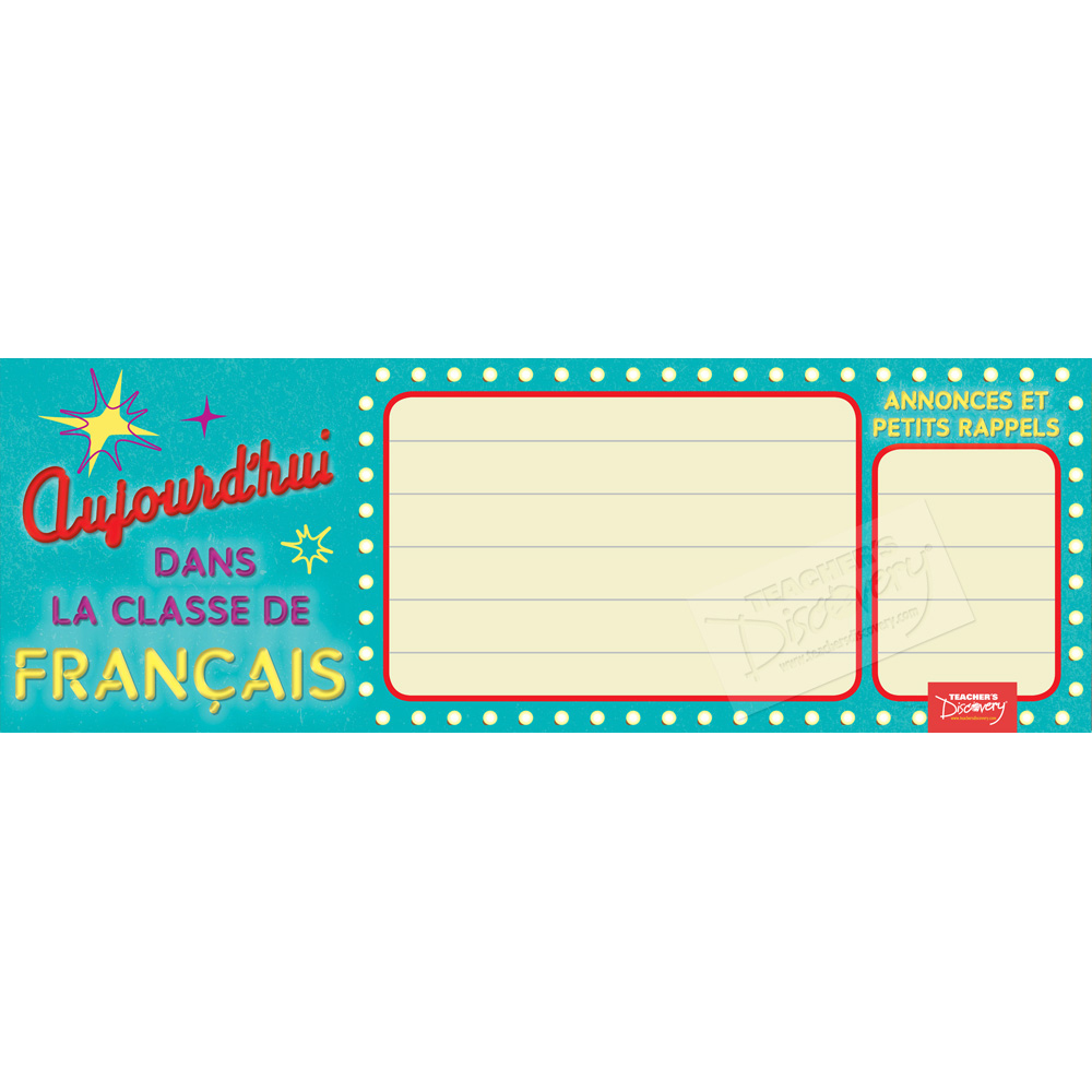 Message Marquee Dry-Erase French Poster
