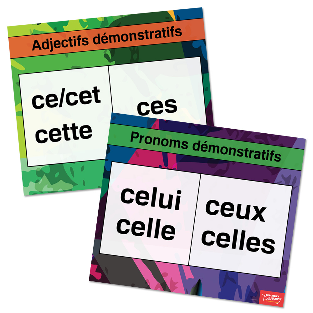 Demonstratives French Charts Set of 2