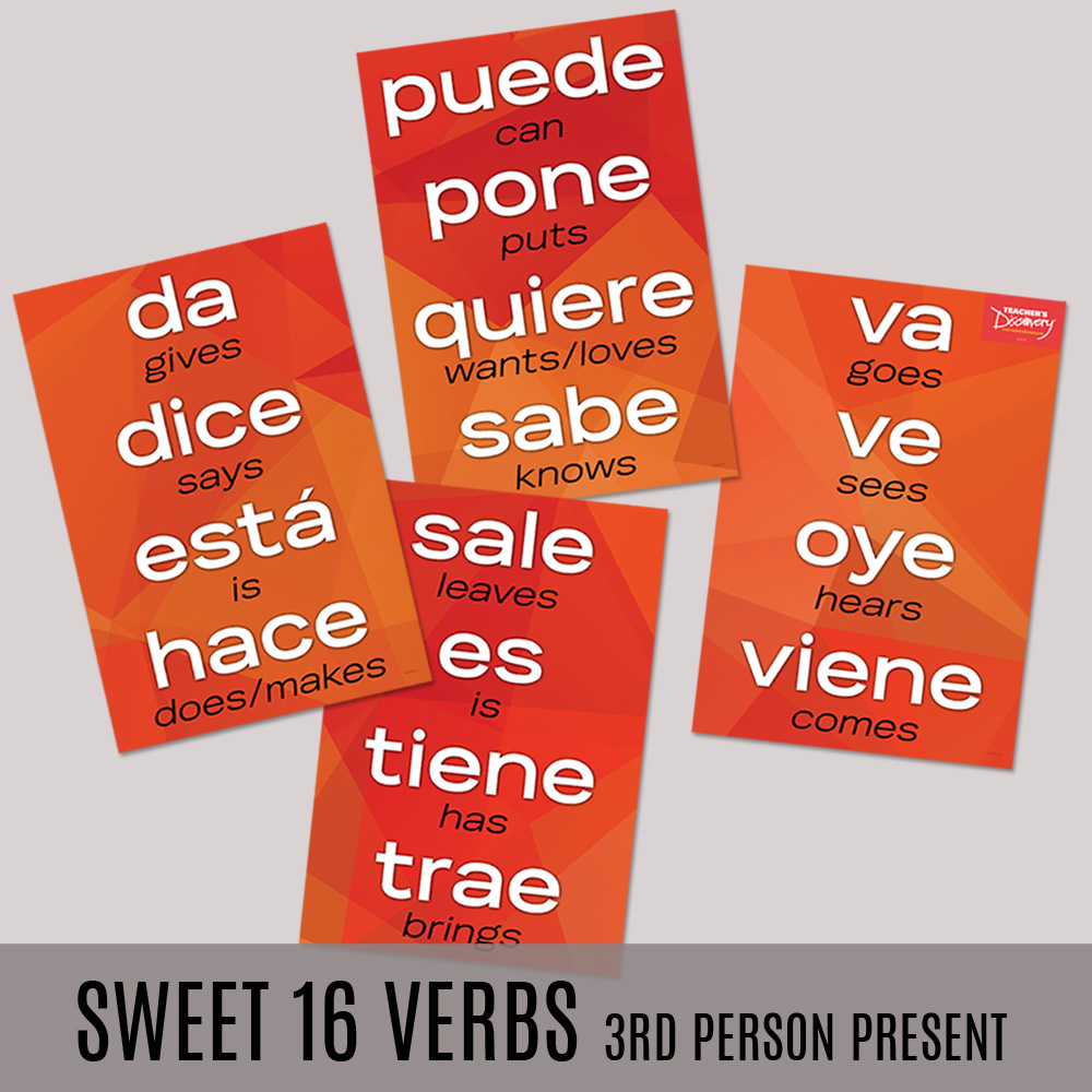 Sweet 16 3rd Person Present Spanish Posters—Set of 4