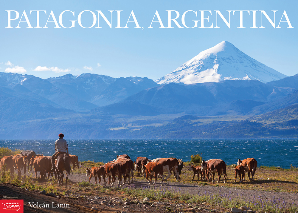 Volc n lan n patagonia argentina spanish travel poster for Free travel posters for teachers