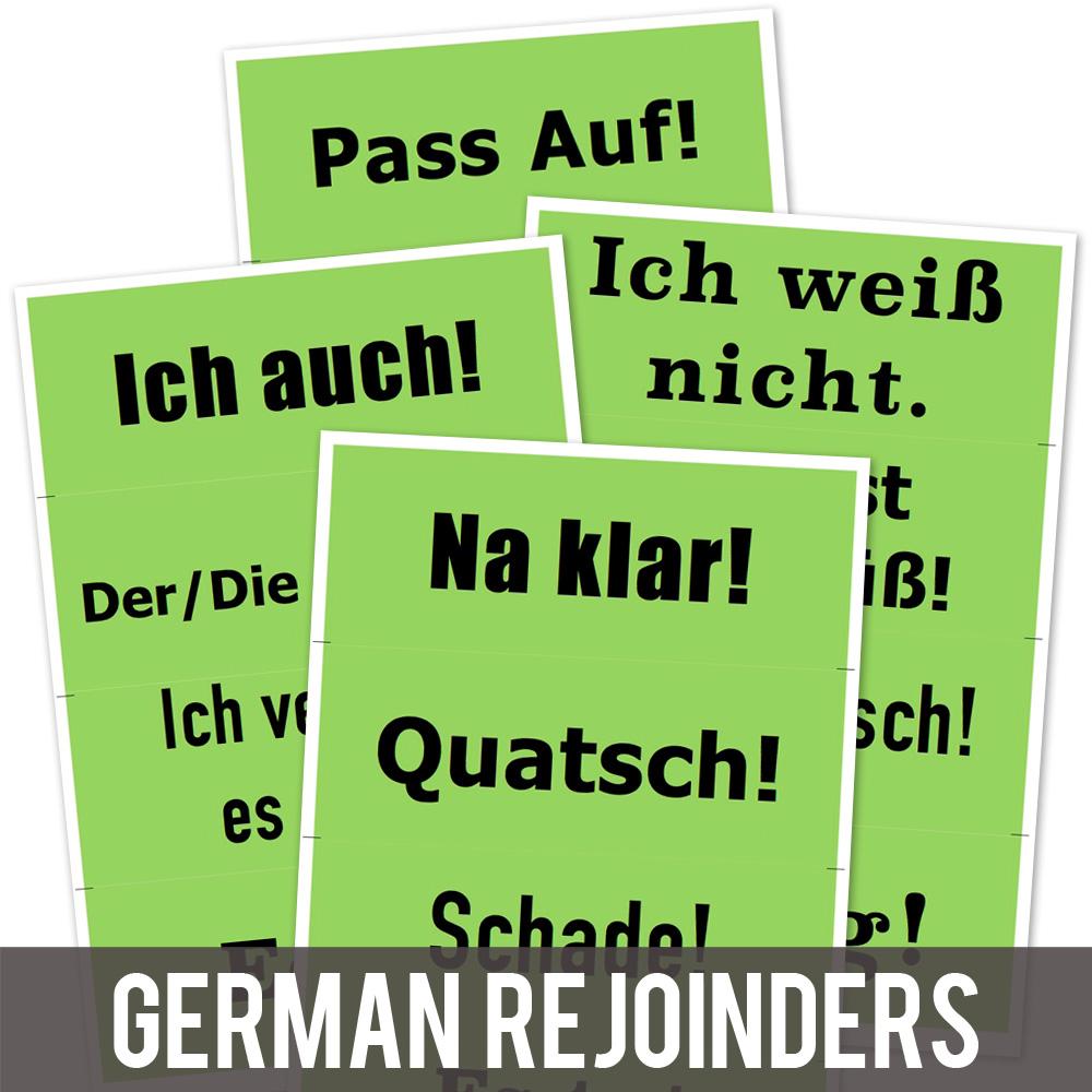 Rejoinder German Posters Green Set