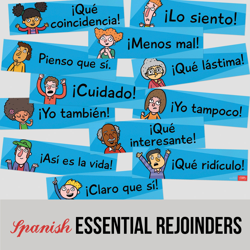 Essential Spanish Rejoinder Signs - Set of 12