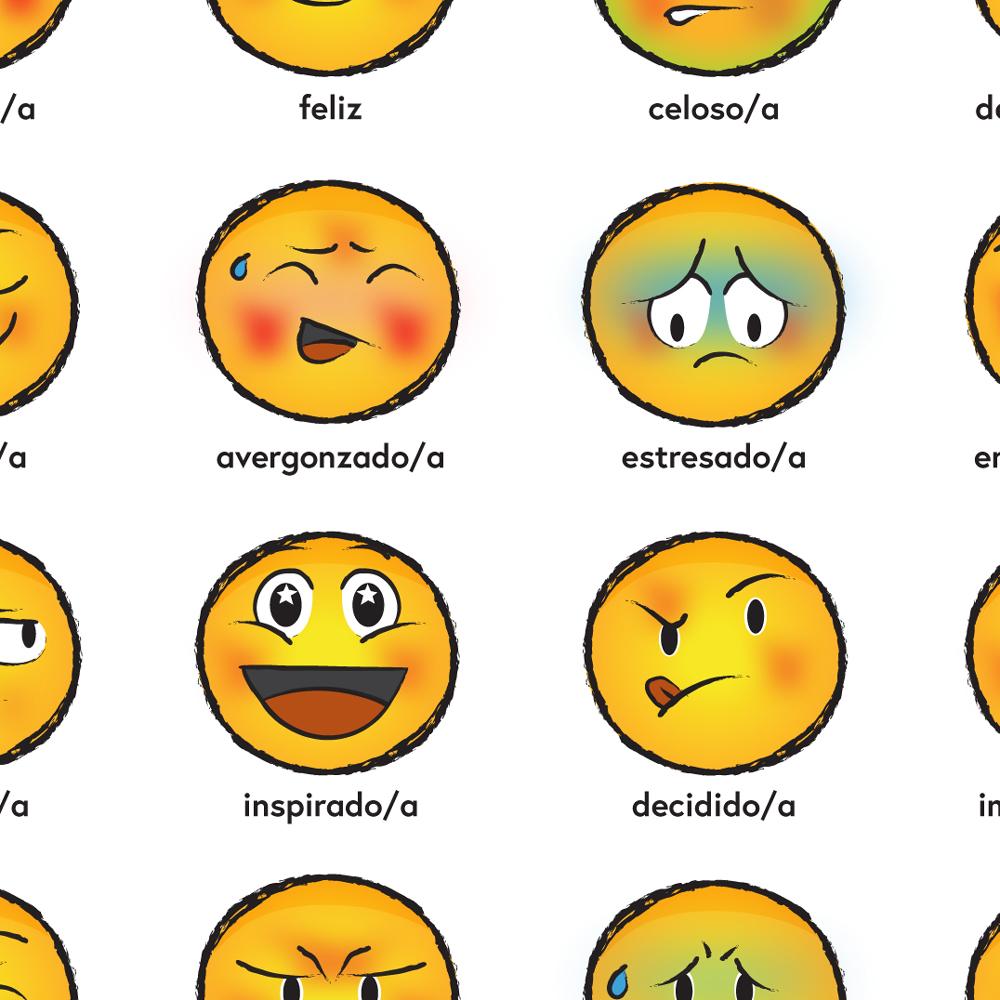 Emoji Emotions Spanish Poster