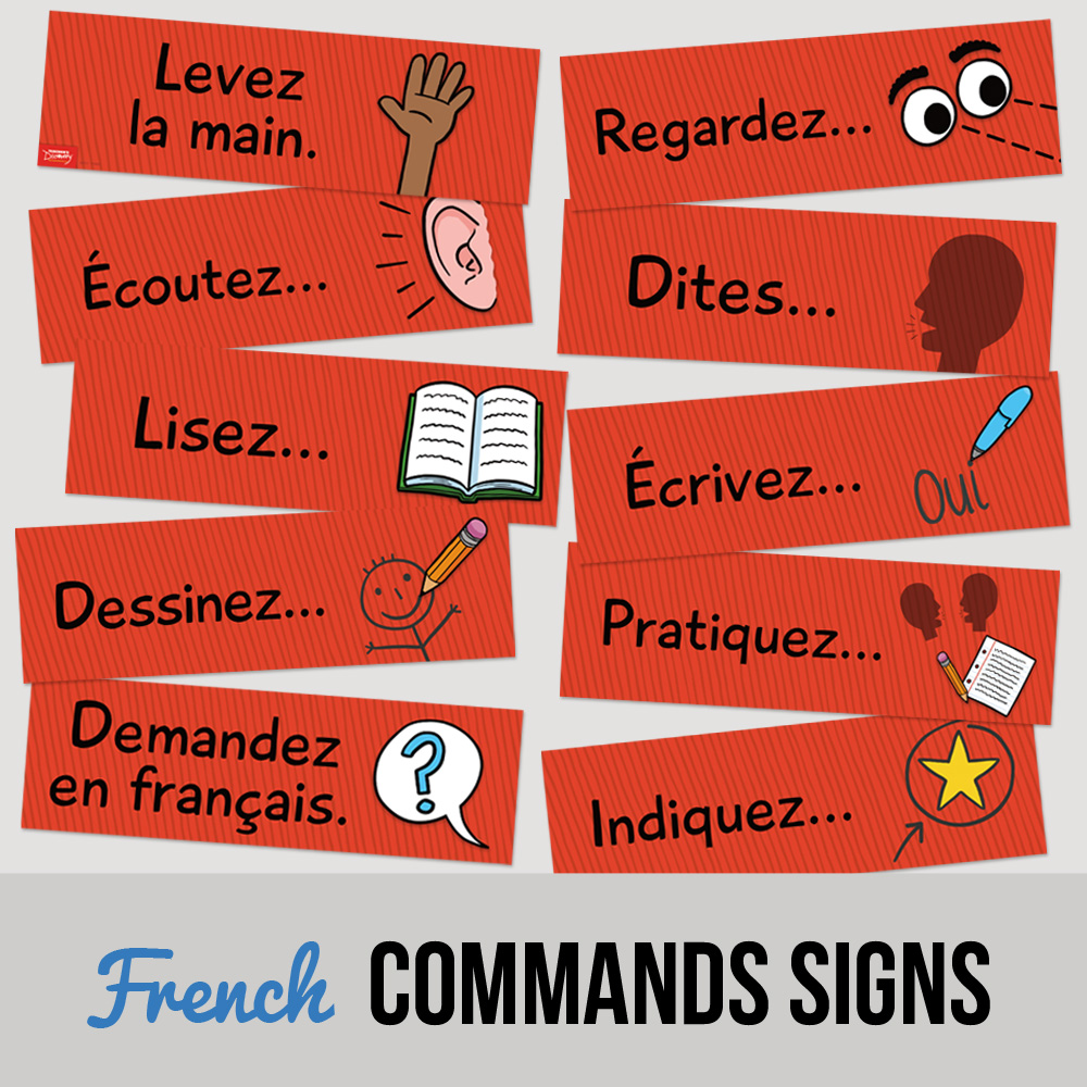 Classroom Commands French Signs