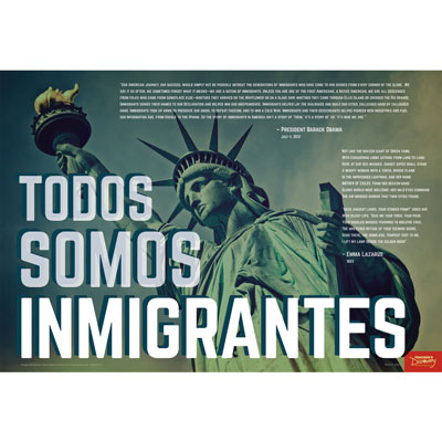 We Are Immigrants Spanish Mini-Poster