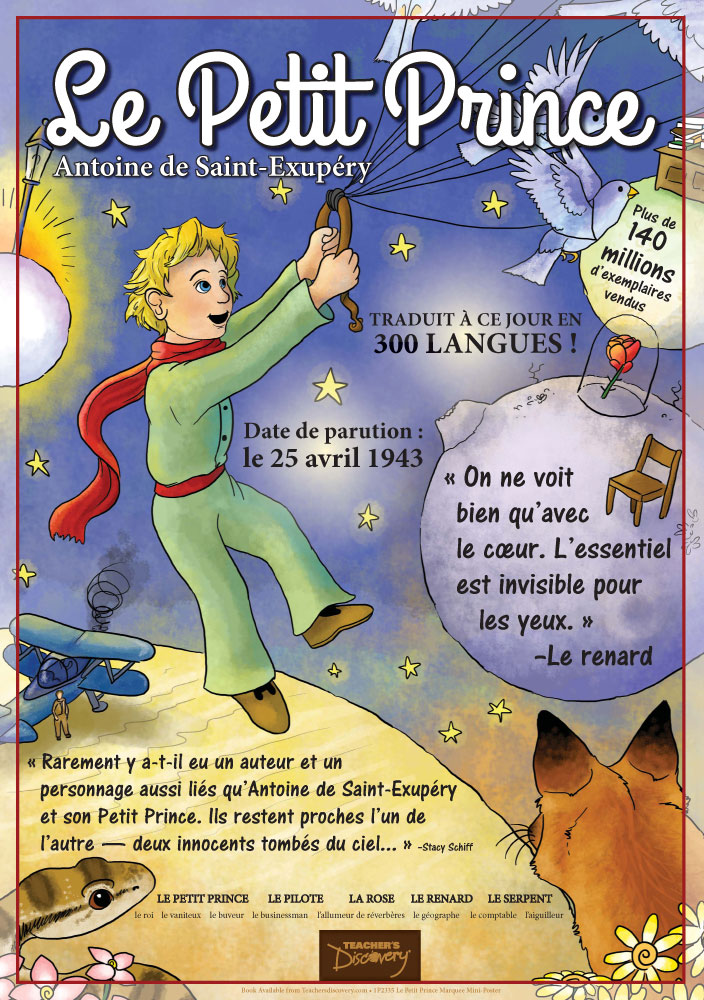 Le Petit Prince Marquee French Poster