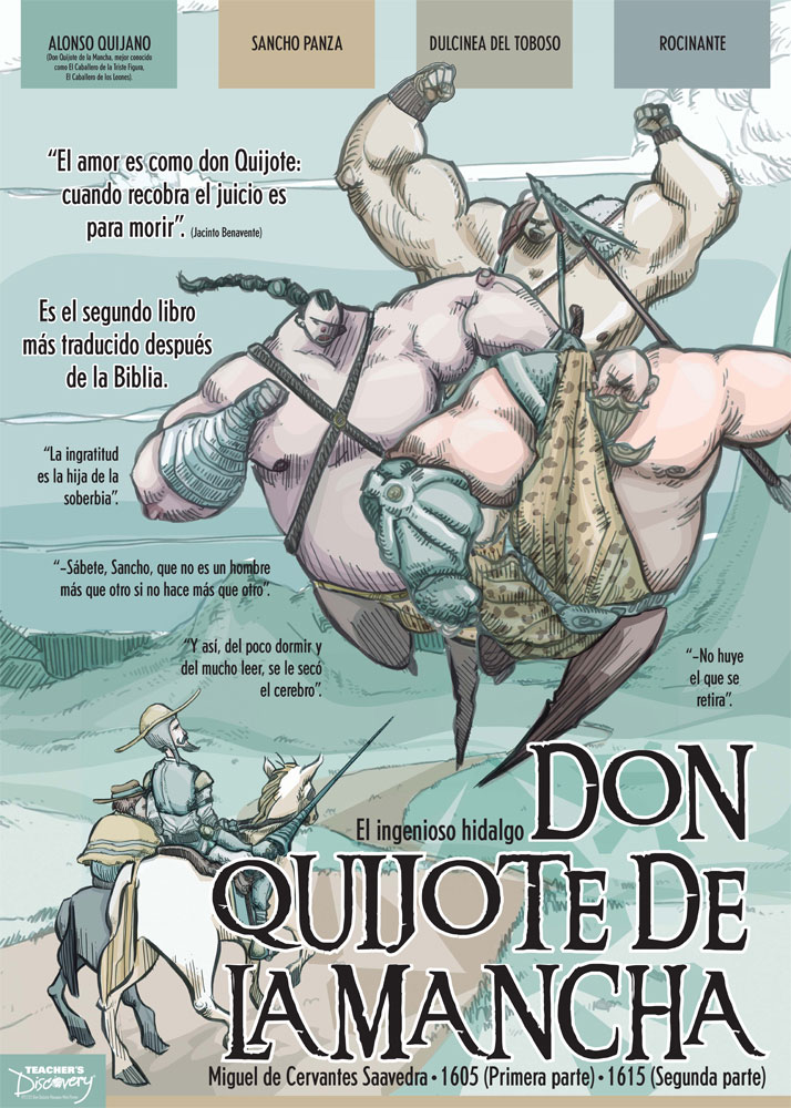 Don Quijote de la Mancha Marquee Spanish Poster