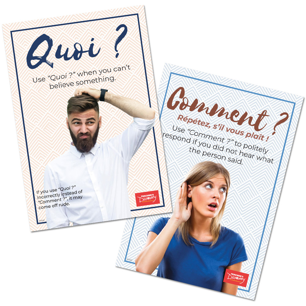 Quoi vs. Comment French Poster Set