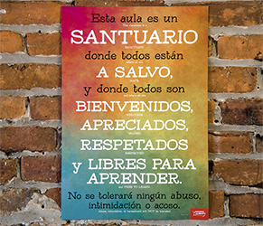 Classroom Sanctuary Spanish Mini-Poster