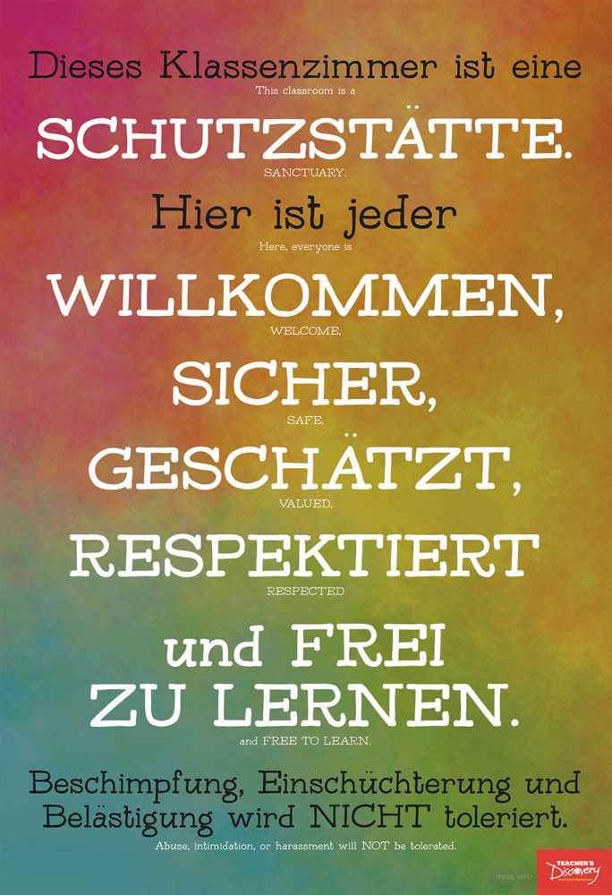 Classroom Sanctuary German Mini-Poster