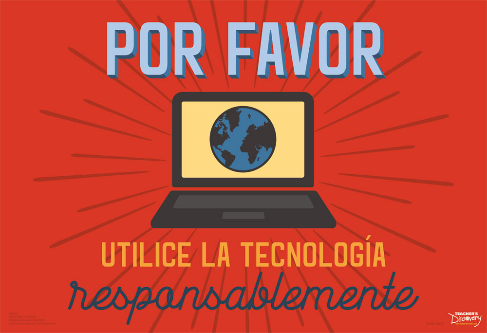 Use Tech Responsibly Spanish Mini-Poster