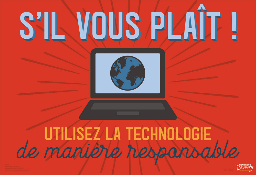 Use Tech Responsibly French Mini-Poster