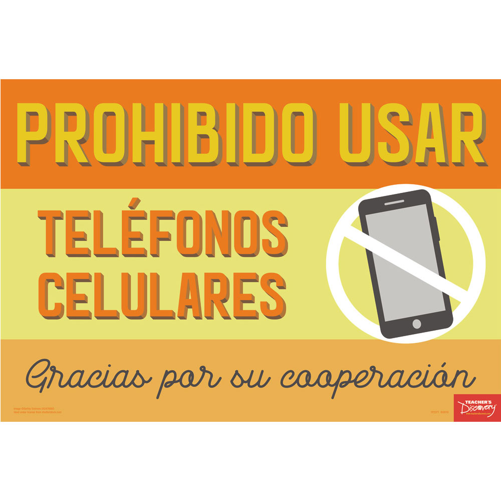 No Cell Phones Spanish Mini-Poster