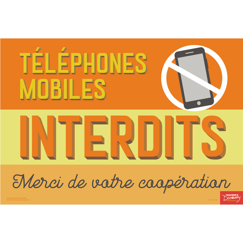 No Cell Phones French Mini-Poster