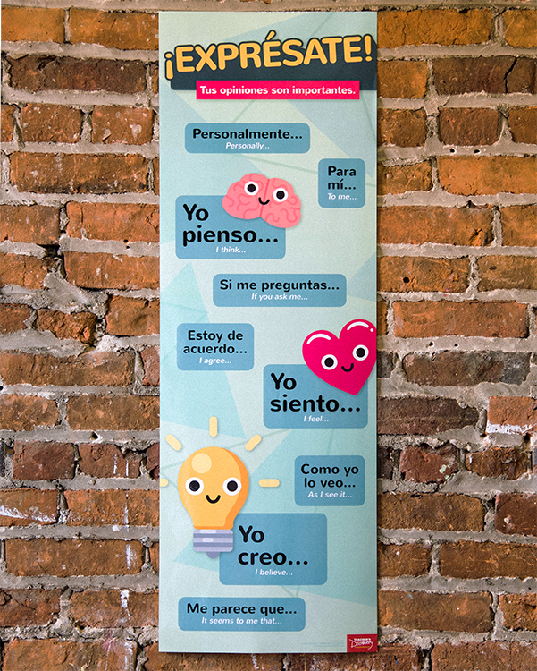 Expressing Opinions Spanish Skinny Poster