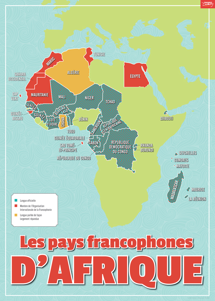 Francophone Africa Map.French Speaking Africa Poster French Teacher S Discovery