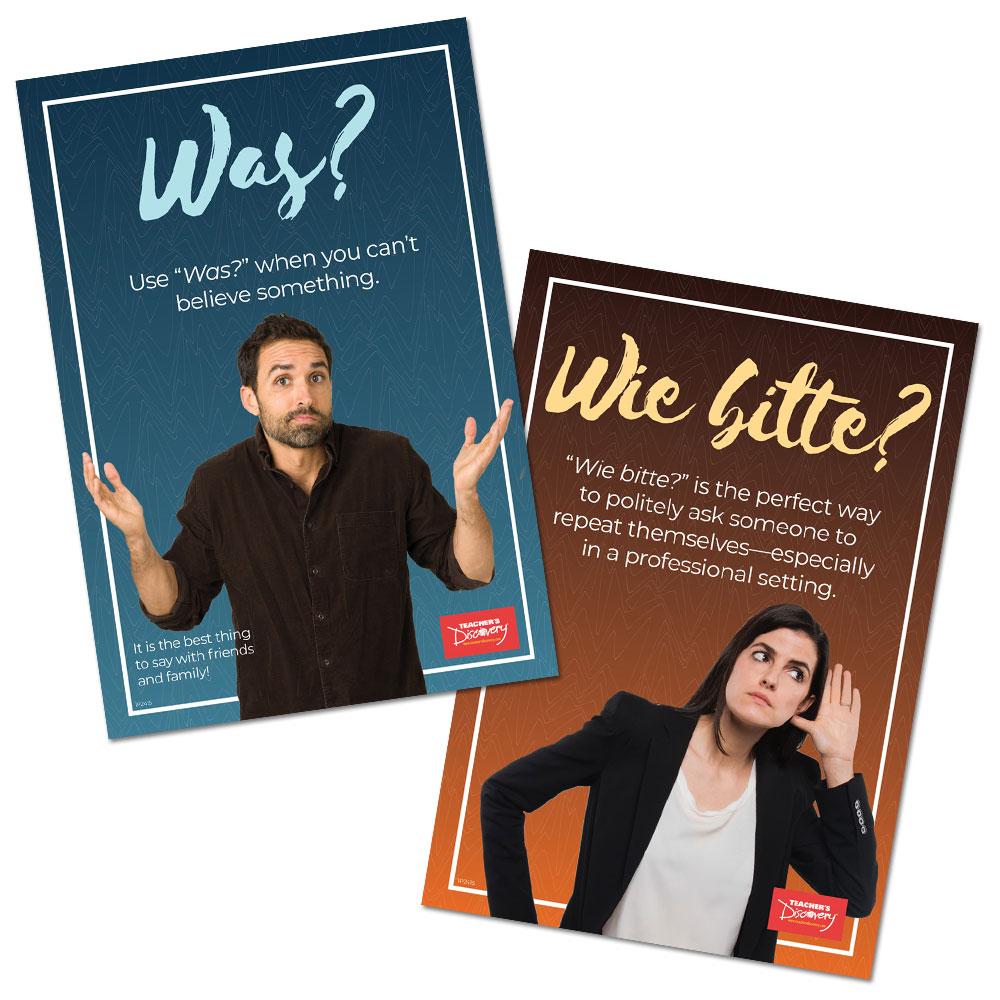 Was vs. Wie bitte German Poster Set