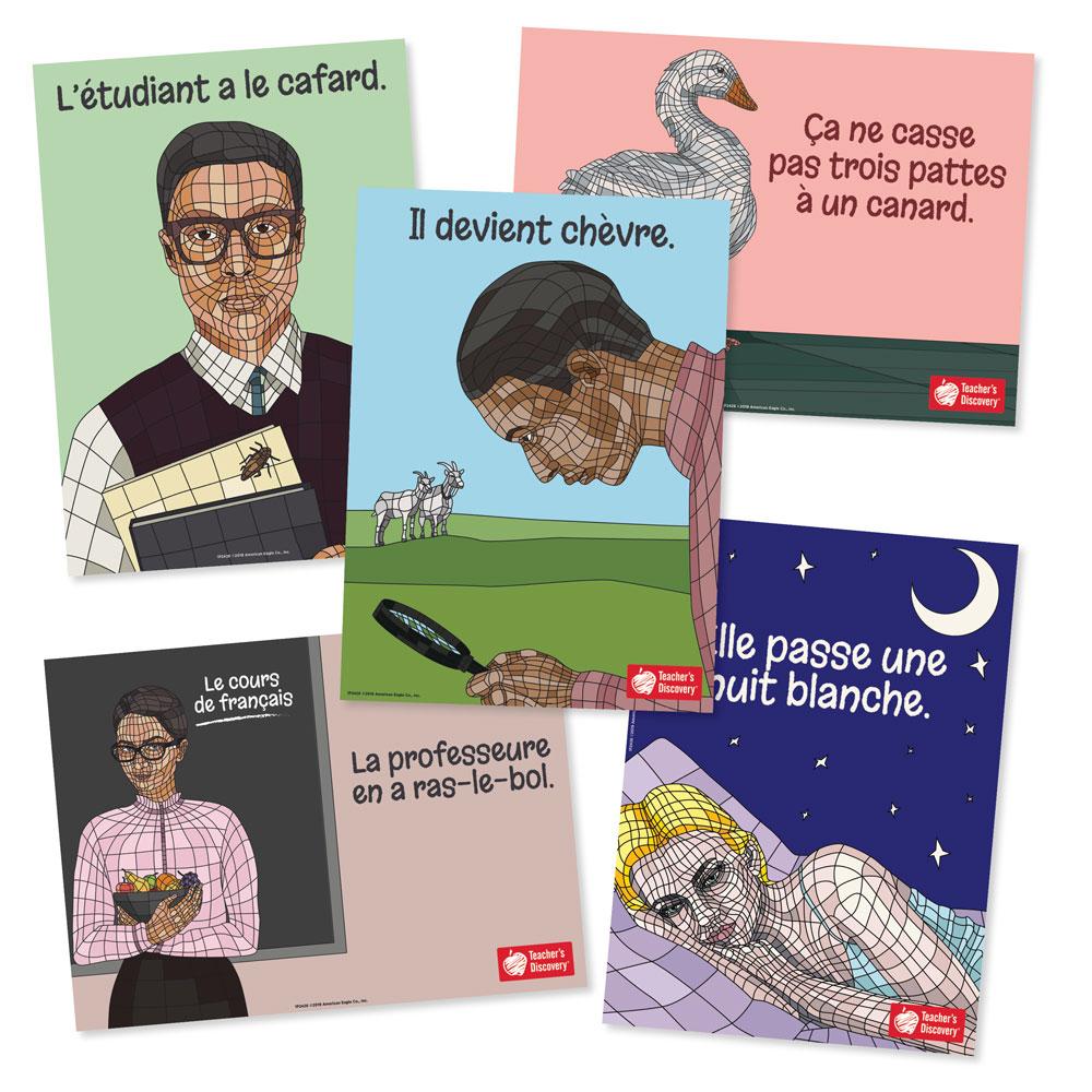 French Idiom Bulletin Board Set