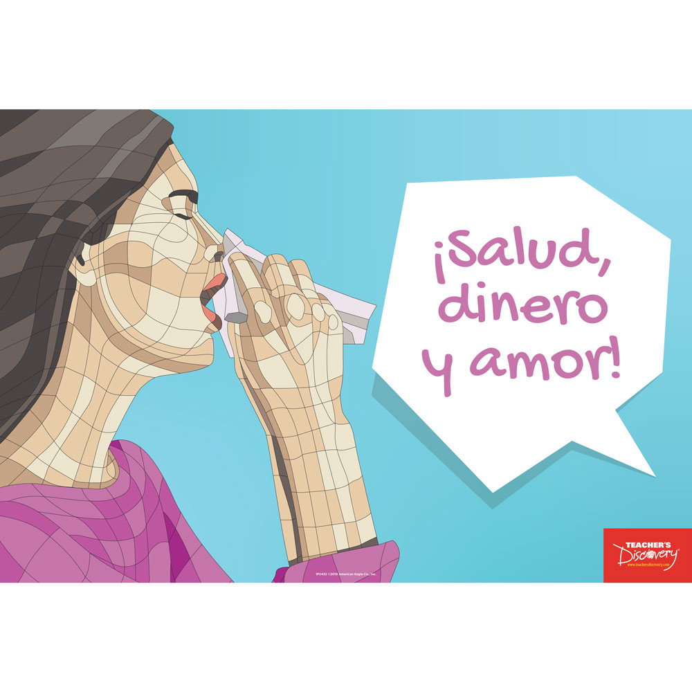 Sneezes Idiom Spanish Mini-Poster