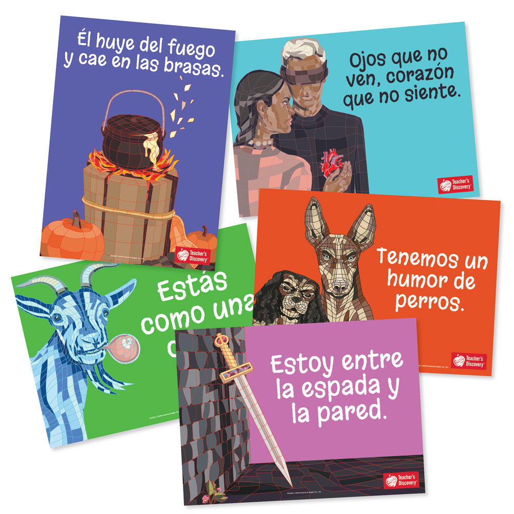 Spanish Idiom Bulletin Board Set
