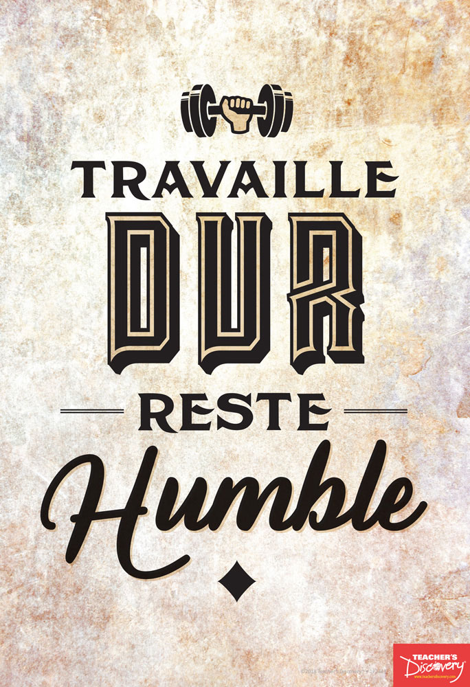 Work Hard Stay Humble French Mini-Poster