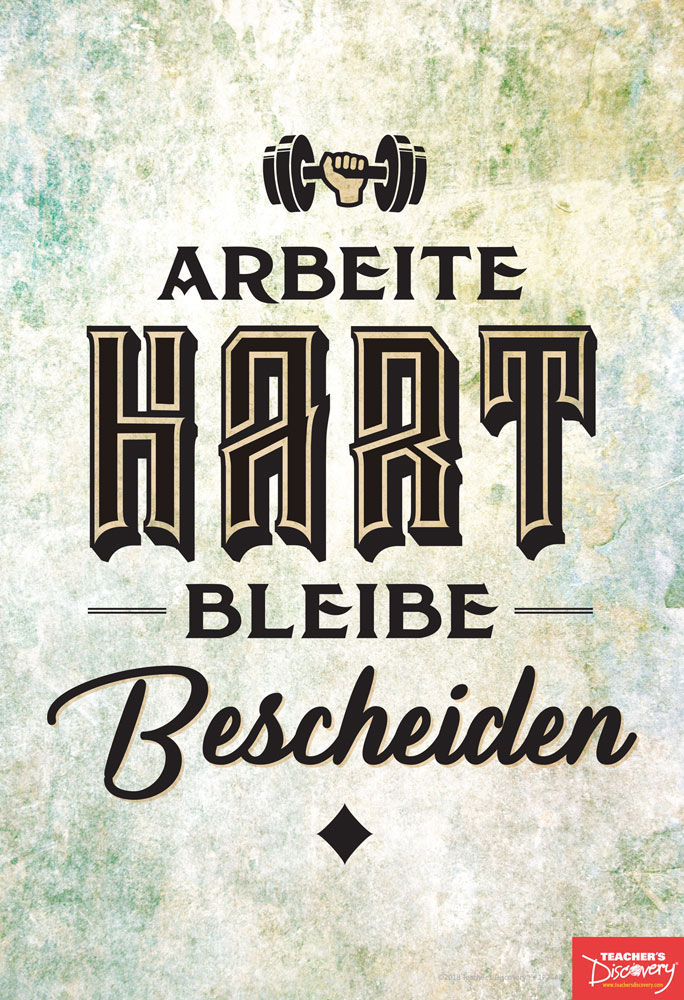 Work Hard Stay Humble German Mini-Poster