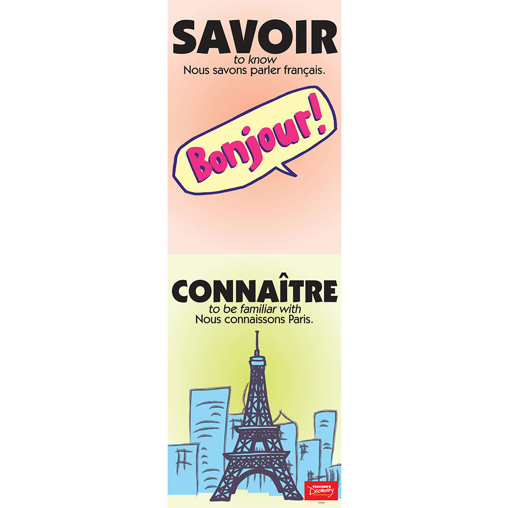 Vexing Verbs Savoir and Connaître French Poster