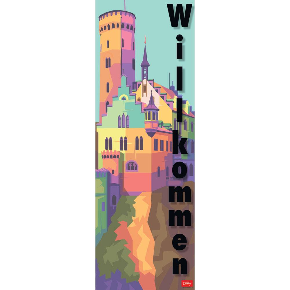 Liechtenstein Willkommen Skinny Poster