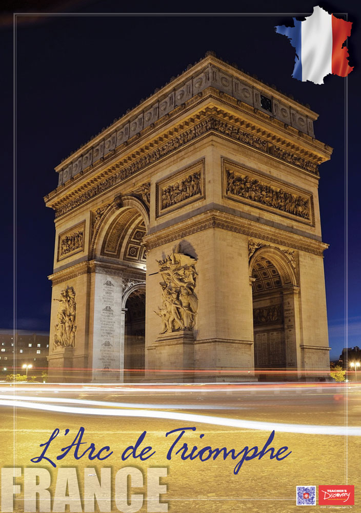 France L'Arc de Triomphe Enhanced™ French Travel Poster