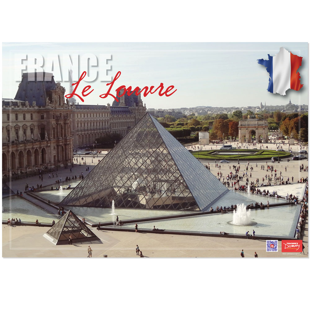 France Le Louvre Enhanced™ French Travel Poster
