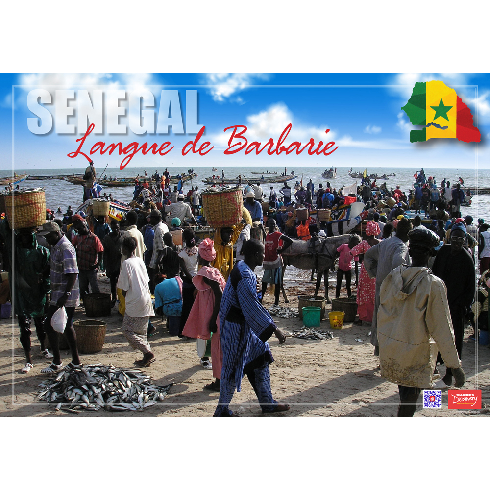 Senegal Langue de Barbarie Enhanced™ French Travel Poster