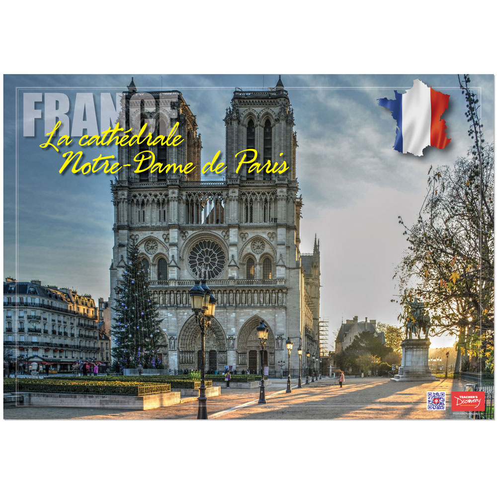 France La cathédrale Notre-Dame Enhanced™ French Travel Poster